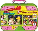 Schmidt Spiele 55595 Bibi Blocksberg, Puzzle-Box im Metallkoffer, 2x60 und 2x100 Teile Kinderpuzzle, farblich Sortiert