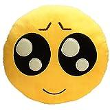 Emoji Smiley Emoticon gelb rund Kissen gefüllt weichen Plüsch Spielzeug 35,1cm (tearfully)