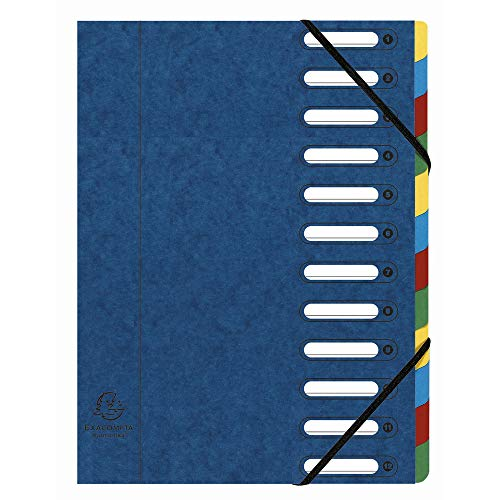 Exacompta Ordnungsmappe Harmonika/55122E blau