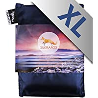 Silkrafox XL - super-king-sized ultralight sleeping bag liner, artificial silk inlett, perfect for hiking, backpacking, outdoor activities