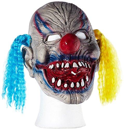 Widmann 00404 - maschera a trequarti 'clown malefico', in taglia unica adulto
