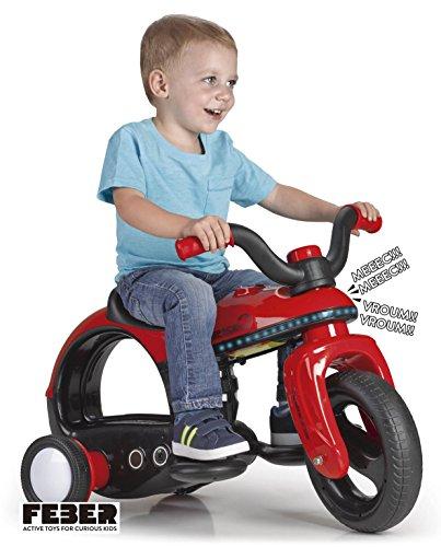 FEBER - Spacebike 6 V eléctrica infantil con Luces y Sonidos