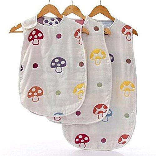 Produktbild NUOLUX Baby Schlaf Sack 100 % Baumwolle Schlafsack Baby tragbare Decke Kleinkind für Neugeborene Swaddle 0-3 Jahre S
