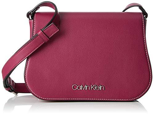 Calvin Klein Slide Saddle Bag - Borse a tracolla Donna, Viola (Magenta), 6x18x25 cm (B x H T)