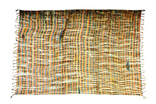 Ciffre Sarong Pareo Wickelrock Strandtuch Tuch Schal Wickelkleid Strandkleid Blickdicht Hawaii - Look Bunt