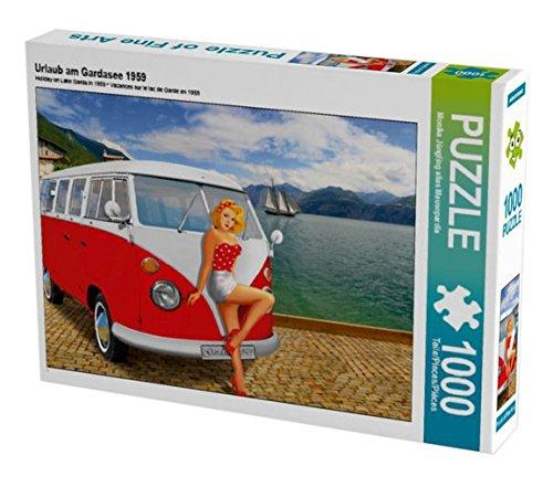Preisvergleich Produktbild Urlaub am Gardasee 1959 1000 Teile Puzzle quer (CALVENDO Kunst)
