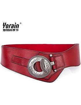 SILIU*La decoración es la Sra. cintura silvestre de cuero elegante falda amplia cintura elástica masa estirar...