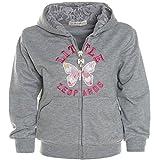Kinder Baby Mädchen Hoodie Pullover Jacke Kapuze Sweatshirt Sweatjacke 21232, Farbe:Grau;Größe:104