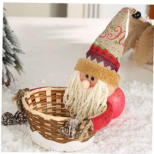 Angoter Navidad Almacenamiento Caramelo Cesta Decoración