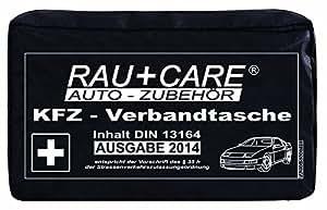 RFX + Care EH0002 KFZ-Verbandtasche schwarz, Inhalt nach DIN 13164 § 35h STVZO