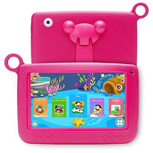 "Fuibo Tablet PCs, Neueste 7\"" ZOLL KINDER ANDROID 4.4 TABLET PC Kamera QUAD KERN HD WIFI Für Kinder (Hot Pink)"