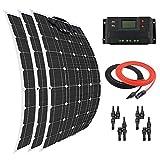 Giosolar Solar Panel 300W Flexible Solar Panel Kit Akku Ladegerät Monokristallines 30A LCD Display Charge Controller für Boot Caravan netzferne