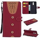 Huawei Mate 10 Lite Hülle, Leder Tasche Handyhülle Flip Wallet Schutzhülle für Huawei Mate 10 Lite mit Ständer und Kartenfächer/Magnetverschluss Z1 (2)