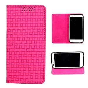 DooDa PU Leather Flip Case Cover For Samsung Galaxy E7 (Pink)