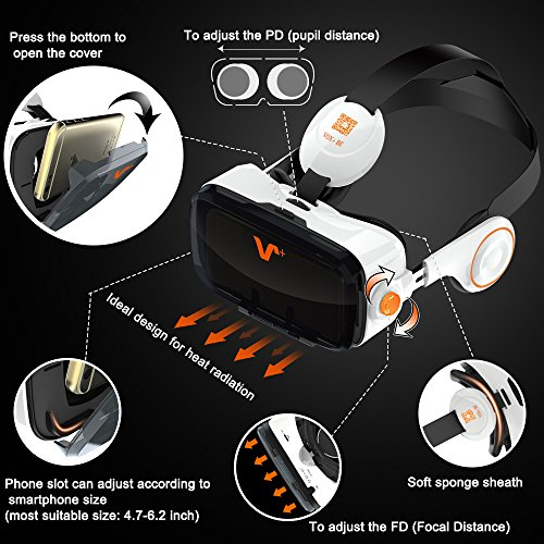 bda3b6193797 VOX+ 3D Virtual Reality Headset 3D Viewing Glasses Get Excited