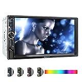 XOMAX XM-2V717 Autoradio mit Mirrorlink Funktion, Beleuchtungsfarbe frei einstellbar, 18cm Touchscreen Bildschirm, Bluetooth Freisprecheinrichtung, USB, SD, AUX, 2 DIN