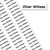 50 Peel & Stick Printed Property Name Labels/Tapes/Tags School - TO SEND PRINTING DETAILS - TO SEND NAME use the GIFT MESSAGE OPTION at the checkout.