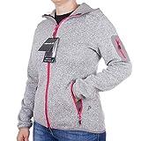 Pignolo Strickfleece-Sweatjacke-Outdoor Jacke Damen Kiara II, Größe:50, Farbe:Totora-Ibisco