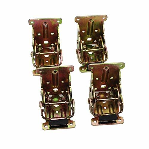 Raogoodcx Faltbare Unterstützung Halterung Stahl Self Lock Erweiterung Tabelle Bett Bein Füße Folding Möbel Hardware Möbel Scharniere, Klapptisch Hardware, Folding Wooden Leg Fitting (Klapptisch Halterung)
