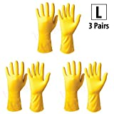 #2: HOKIPO® Flocklined Household Multi-Purpose Glove, Large, 3 Pairs