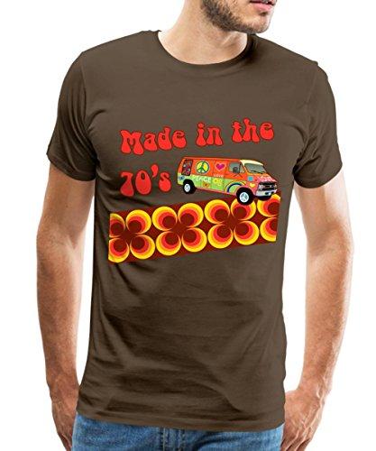Spreadshirt Made in the 70's Retro Siebziger Männer Premium T-Shirt, XL, Edelbraun (Retro Jahre T-shirts 70er)