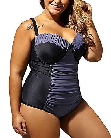 Minetom Women One Piece Swimwear Monokini Bikini Swimming Costume Padded