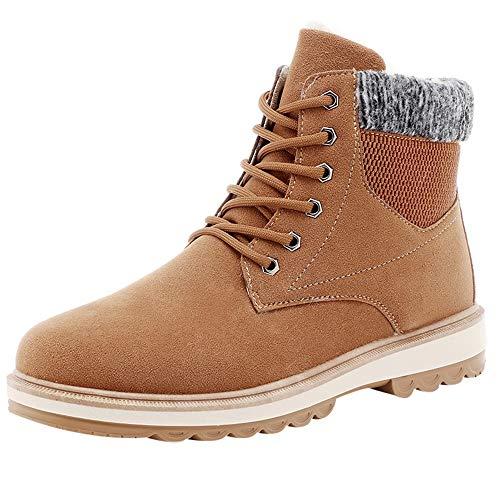 EU39-EU46 ODRD Schuhe Herren Herrenmode Winter Warme Retro Kurze Stiefel Runde Kappe Outdoor Schuhe Hallenschuhe Worker Boots Laufschuhe Sportschuhe Wanderschuhe Reitstiefel