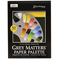 Jack Richeson Grey Matters Paper Palette, 12 by 16-Inch, 50 Sheets