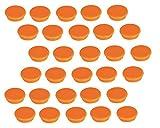 30 Franken Magnete Haftmagnete Kühlschrankmagnete, 32 mm, orange