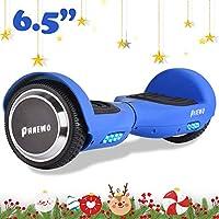 Phaewo Hoverboard avec LED et Sac de Transport .- Self Balance Board Scooter Certifié UL, Smart Skateboard à Deux Roues Auto-équilibrant (Samsung H-Power Battery)