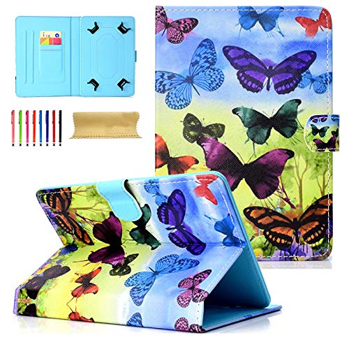 Universal Tablet-Schutzhülle mit Standfunktion für Amazon, Samsung, GoTab, RCA 03 Colourful Butterfly for 7-8 inch Tablet - 8 Zoll-rca Tablet Case