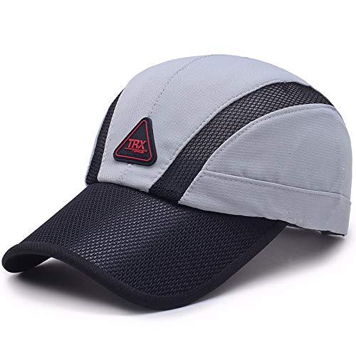 Cappello da Baseball Caldo da Esterno Caldo da Esterno Berretto da personalità Maschile Tendenza Moda Cappello Moda Traspirante Crema Solare Regolabile Grigio