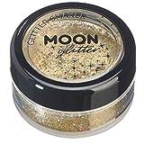 Holographische Glitzer Shaker von Moon Glitter - 100% kosmetischer Glitzer für Gesicht, Körper, Nägel, Haare und Lippen - 5gr - Gold
