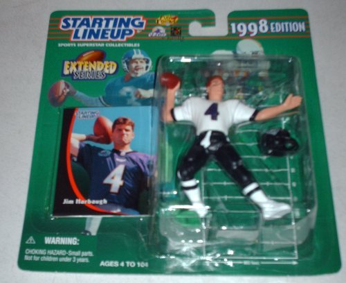 Jim Harbaugh 1998 Extended Series Starting Lineup San Francisco 49ers-Baltimore Ravens by Starting Line Up