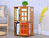 SUBBYE 360º Drehbare Bücherregale Einfacher Massivholz Student Bücherregal Moderne Kreative Bodenstehende Lagerregal ( größe : 36cm*36cm*67cm )