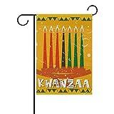 MUMIMI Seven Kwanzaa - Bandera de jardín de doble cara, de poliéster