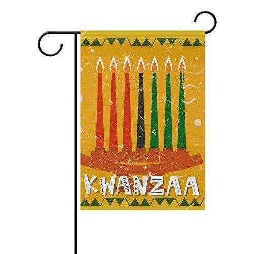 MUMIMI Sieben Kwanzaa Kerze Garten Flagge 30,5x 45,7cm Zwei-seitige Hof Dekoration Polyester tolle Bilder Flagge