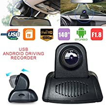 Zibuyu 1080P Hd Usb Car Front Hidden Camera Video Recorder Dvr For Android Radio