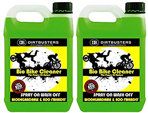 Dirtbusters Nettoyant bio pour vélo ou moto avec microbes et enzymes mangeurs de boue 2 x 5litres pour une moto ou un vélo respectueux de l'environnement