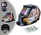 Leogreen - Casco Regolabile Per Saldatura, Casco Protezione Auto Oscurante, Modello  aquila, con 3 lenti supplementari, Materiale: LCD, Stato scuro: DIN9-13