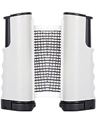 ma-on retráctil Kit estándar de repuesto para mesa de ping pong (blanco y negro)