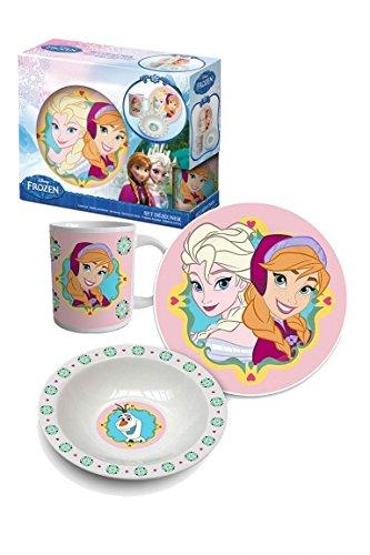 Unbekannt Beta Service el50899la Reine des Neiges Frozen Set Petit Déjeuner II, 3pièces, Plastique, Multicolore, 15x 25x 12cm