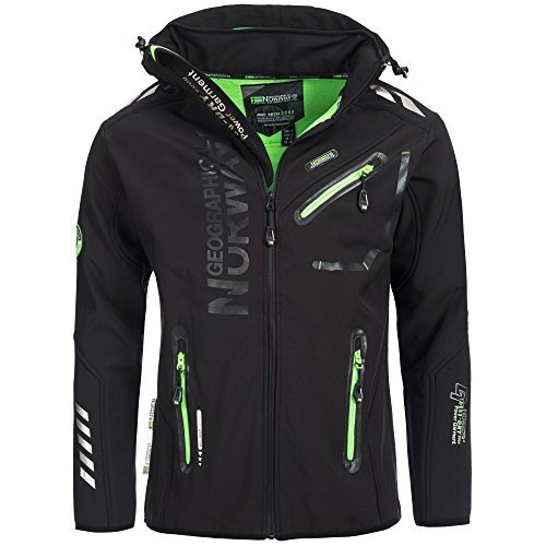 84H1 Amazon II Geographical Norway Rainman Herren Softshell Schwarz Gr. L