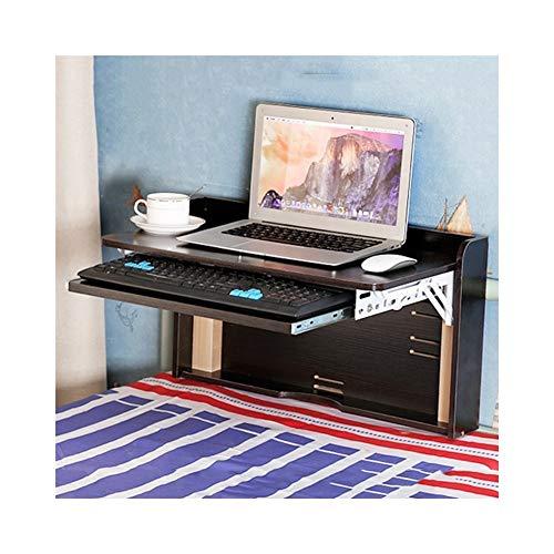 AJZXHE Bureau d'ordinateur étudiant, bureau de bloc-notes de lit, simple bureau pliant moderne Bureau simple (Couleur : Noir)