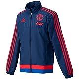 adidas MUFC Pre JKT Herren Trainingsanzug S Marineblau/Rot