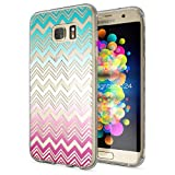 NALIA Handyhülle für Samsung Galaxy S7 Edge, Slim Silikon Motiv Case Hülle Cover Crystal Schutzhülle Dünn Durchsichtig, Etui Handy-Tasche Backcover Transparent Bumper, Designs:Colorful Lines