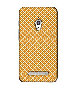 Asus Zenfone Go Back Cover, Asus Zenfone Go Back Case Orange Seamless Abstract Geometric Pattern Design From Printvisa