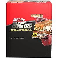 Big 100 Colossal Bars, Crispy Apple Pie - 9 bars by MET-Rx M