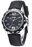 INWET Herren Uhr Analog Quarz mit Silikon Armband Datum Kalender Schwarz