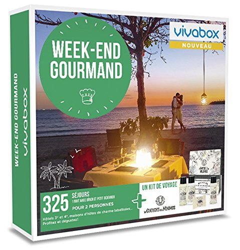 Vivabox - Coffret cadeau couple - WEEK-END GOURMAND- 325 week-ends gourmands. + 1 kit...